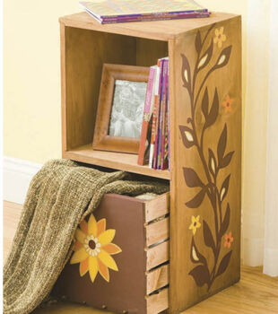 Floral Folk Art Storage Decor