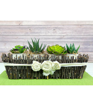 How To Make A Chic Twig Planter