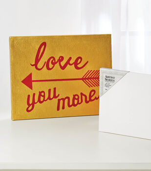 """How to Make a """"Love You More"""" Canvas"""