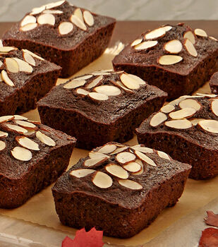 Mini Chocolate Almond Loaves