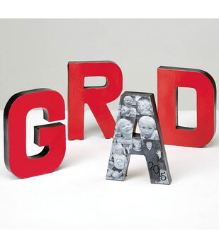 GRAD Paper Mache Letters with Photos