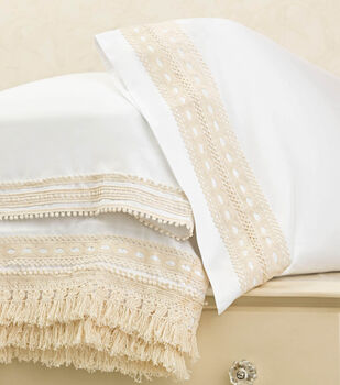 How To Make Boho Chic Embellished Pillowcases