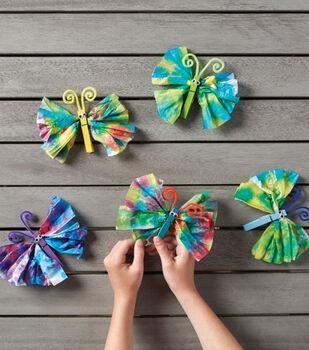 Tie Dye Tissue Paper Butterflies