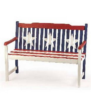 Americana Painted Bench