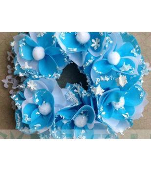 Frozen Blooms Wreath