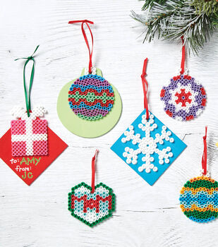 Perler Gift Tag Ornaments