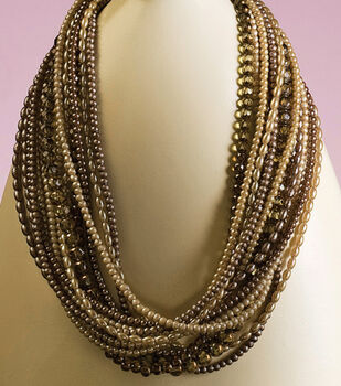 Brown Multi-Strand Necklace