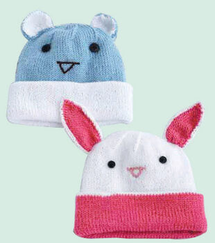 Baby Bunny and Bear Hats