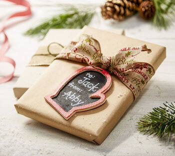 Makers Guide: Mitten Ornament Chalkboard
