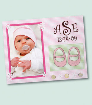 Baby Girl Embroidered Paper Page