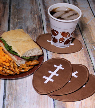 How To Make Four Football Coasters