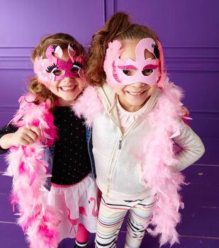 Light Pink Big Flamingo Mask