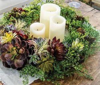 Greenery Wreath Centerpiece