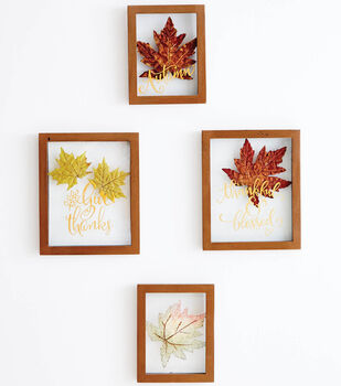 Fall Leaf Floating Frame Wall Decor