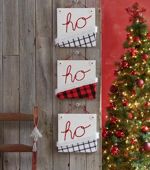 """How To Make A """"Ho Ho Ho"""" Wall Art"""