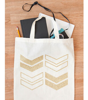 Glitter Chevron Tote Bag