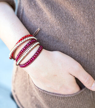 Creativebug-Leather Wrap Bracelet