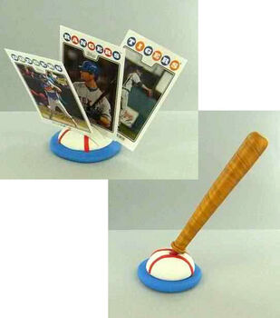 Baseball Card Holder & Bat Pen