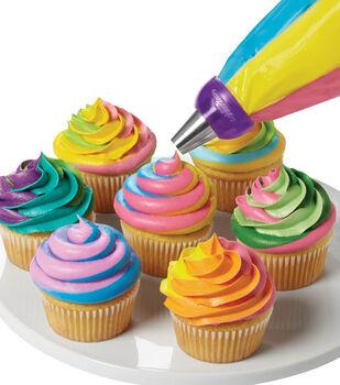 Colorful Swirls Cupcake