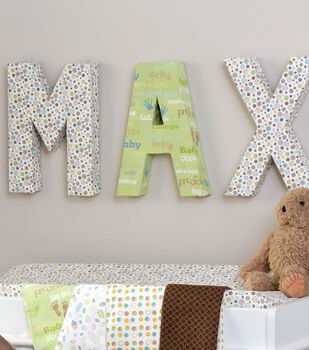 Idea Market Fabric Covered Letters