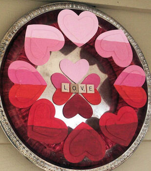 Karen's Ombre Painted Valentines Wreath