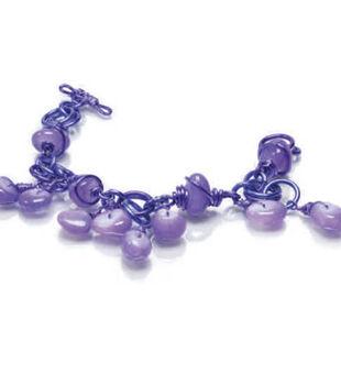 Chained Purple Agate Bracelet