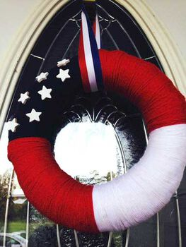 The Southern Couture's Patriotic Yarn Wreath