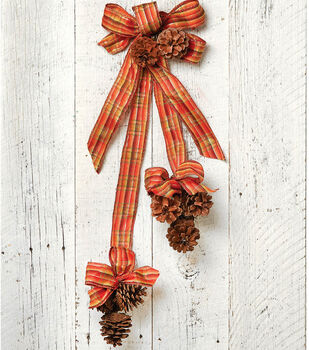 Pinecone Picks with Ribbon