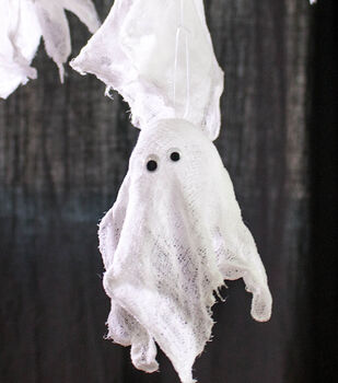 How to make Spooky Cheesecloth Ghosts