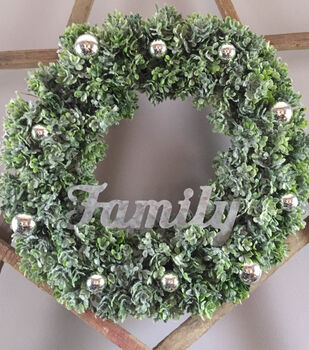 Family Wreath With Ornaments