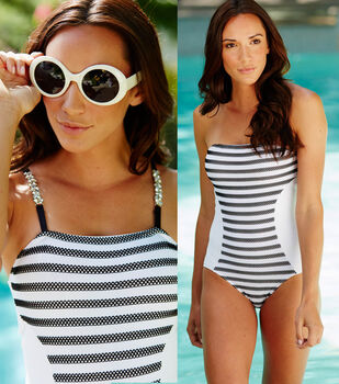 Black and White Swimsuit