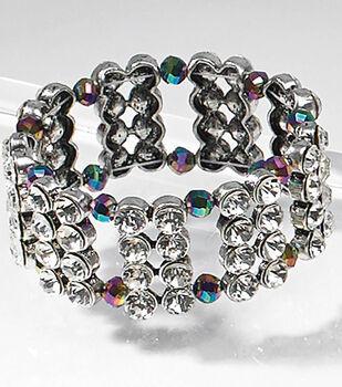 Multi Crystal Slider Bracelet