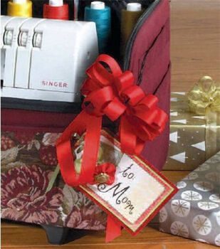 Gift Tag with Faux Stitching