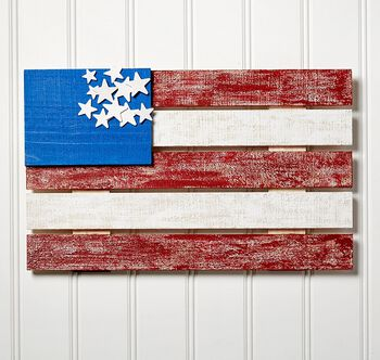 DIY Unfinished Wood Flag