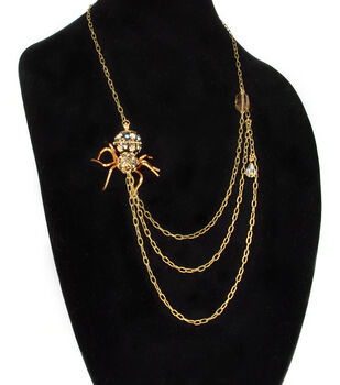 Jeweled Spider Necklace