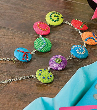 Buttons and Bling Necklace