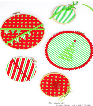 How To Make Christmas Ornament Fabric Hoops