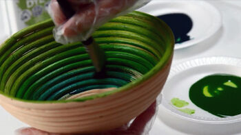 Ultra Dye Painted Decorative Bowls