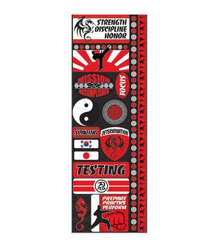 Signature Series Cardstock Combo Sticker Martial Arts