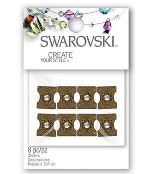 Create Your Style Swarovski Sliders-Crystal Portrait 8/pk