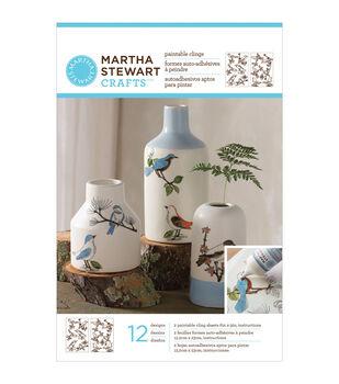 Martha Stewart Crafts Glass Paintable Cling Sheet Woodland Birds