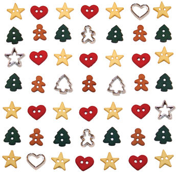 Dress It Up Holiday Embellishments-Itty Bitty Cut Out Cookies