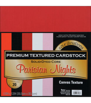 "Core'dinations Value Pack Cardstock 12""X12"" 20/Pkg-Parisian Nights-Textured"