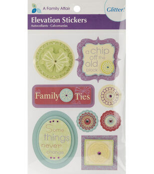 Elevations Glitter Stickers-A Family Affair