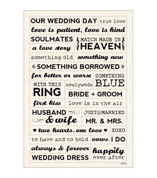 Momenta Wedding Foam Stickers