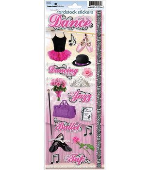 Dance Cardstock Stickers