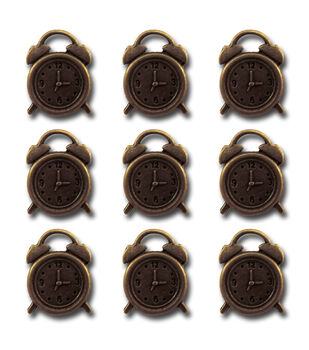 Maya Road Alarm Clocks Vintage Metal Charms