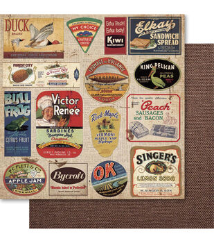 Ruby Rock-It Country Cookin' Knick Knacks Double-Sided Cardstock