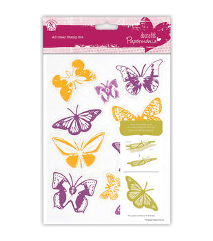 Papermania Butterflies A5 Clear Stamps