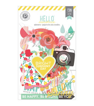 Pink Paislee Die-Cuts Hello Sunshine Ephemera